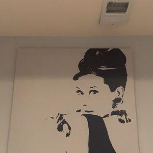 Audrey Hepburn Large Print Canvas